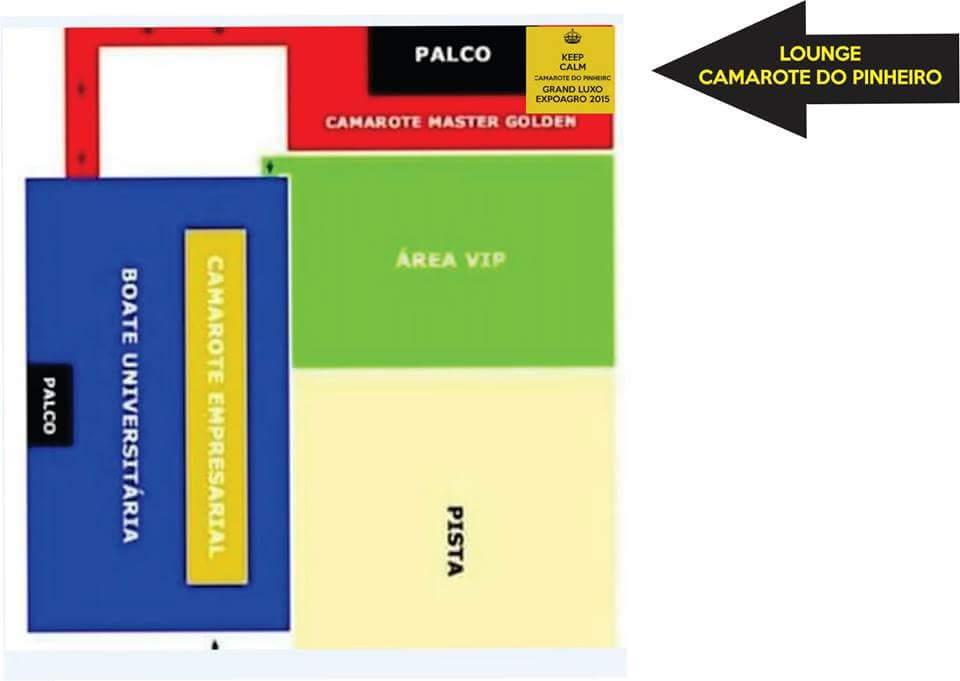 Mapa Camarote Pinheiro Lounge