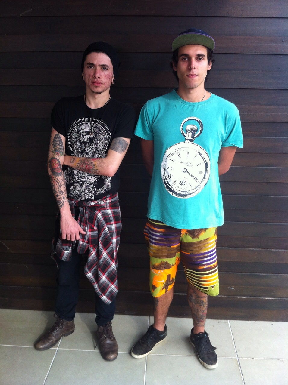 Mateus Wolf tatuador e Ernani William visitante