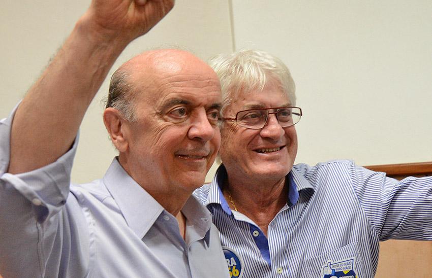 José Serra e Roberto Engler