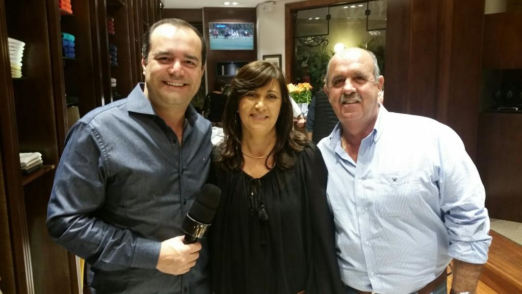 Anderson Pinheiro, Jaci Alves Garcia e Gilson Garcia