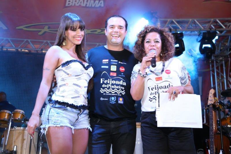 Carol Dias, Anderson Pinheiro e Rose Morais