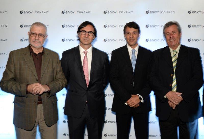 Benjamín Liberoff, Gerardo Cood, Juan Eduardo García y Enrique Antía.