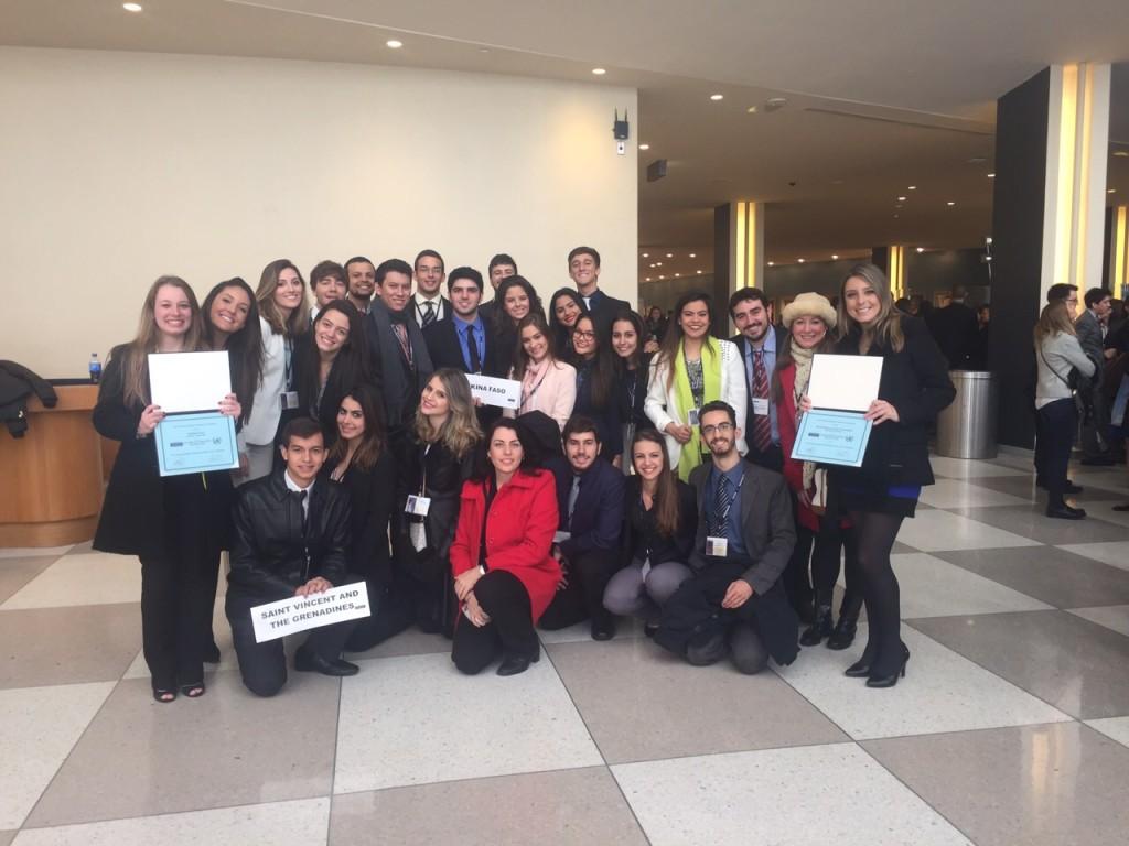 ONU NY_  Menção Honrosa delegações
