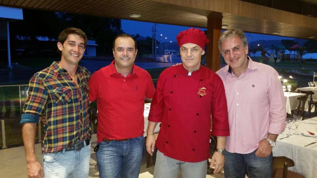 Alex Manhas, Anderson Pinheiro, Chef Dimitri Hebert Bottani e Amir Choaib