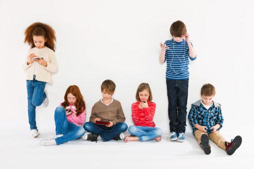 Crianças Celular