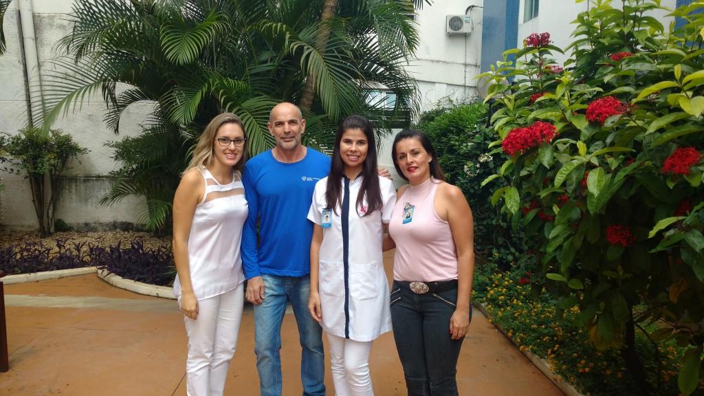Hospital Regional Esquerda para Direita - Melina Rodrigues, Geraldo de Souza, Carla Porto, Rita Prado