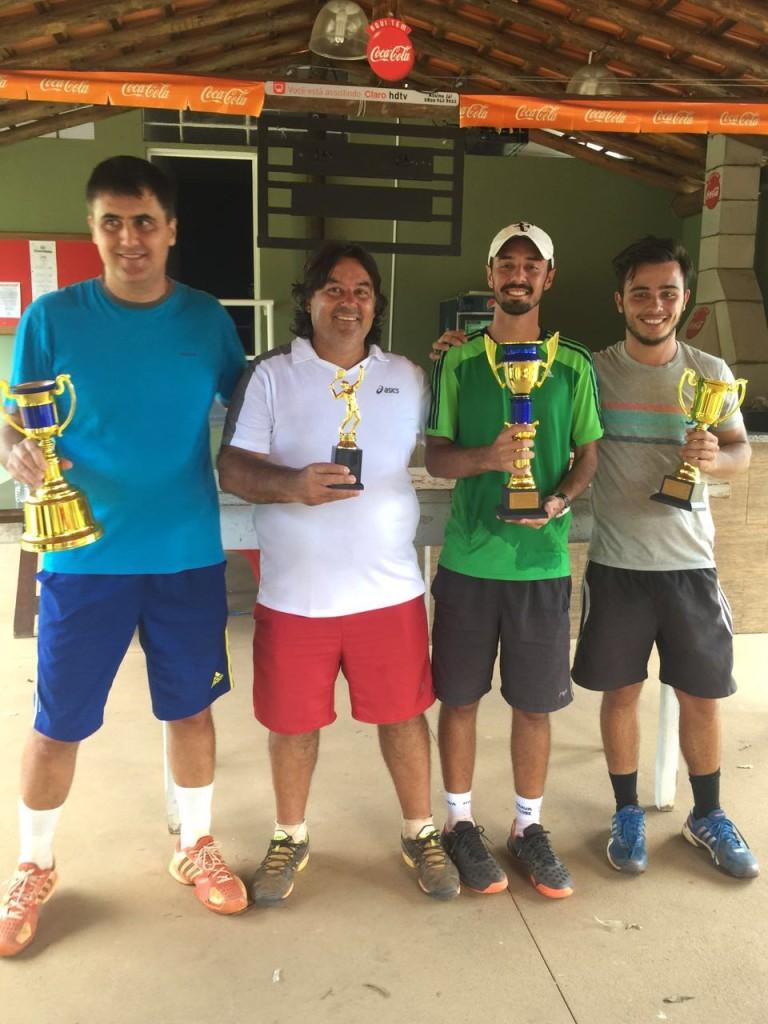 Luciano, Jesus, Douglas e Murilo. Finalistas ATP1000 e GrandSlam tenis