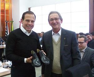 Dória com Brigagão, sapato da Radamés
