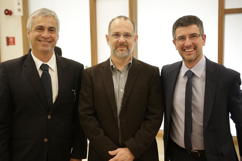 Flávio Gulden, Renato Falzetta e José Celani, da Multiplan
