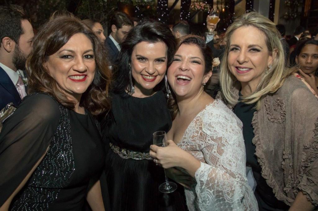 Márcia Dadamos, Ana Zambon, Ju Ferraz e Grace Cozman