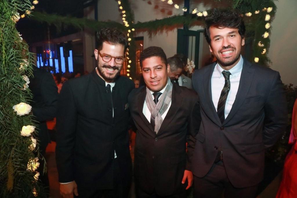 Victor Collor de Melo, Victor Hugo Machado e Mauricio Vasconcelos