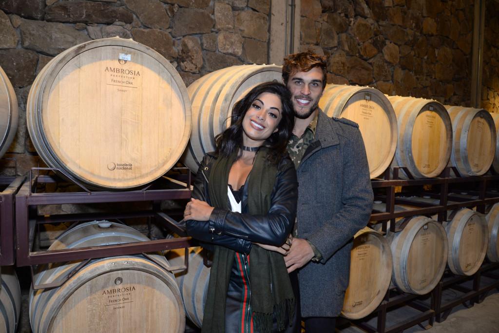 Aline Riscado e Felipe Roque curtem a Viña Edén