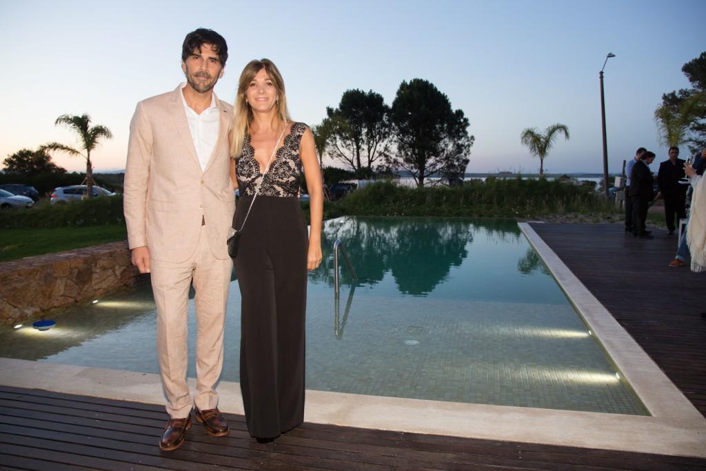 El actor argentino Juan Darthes y su mujer Maria