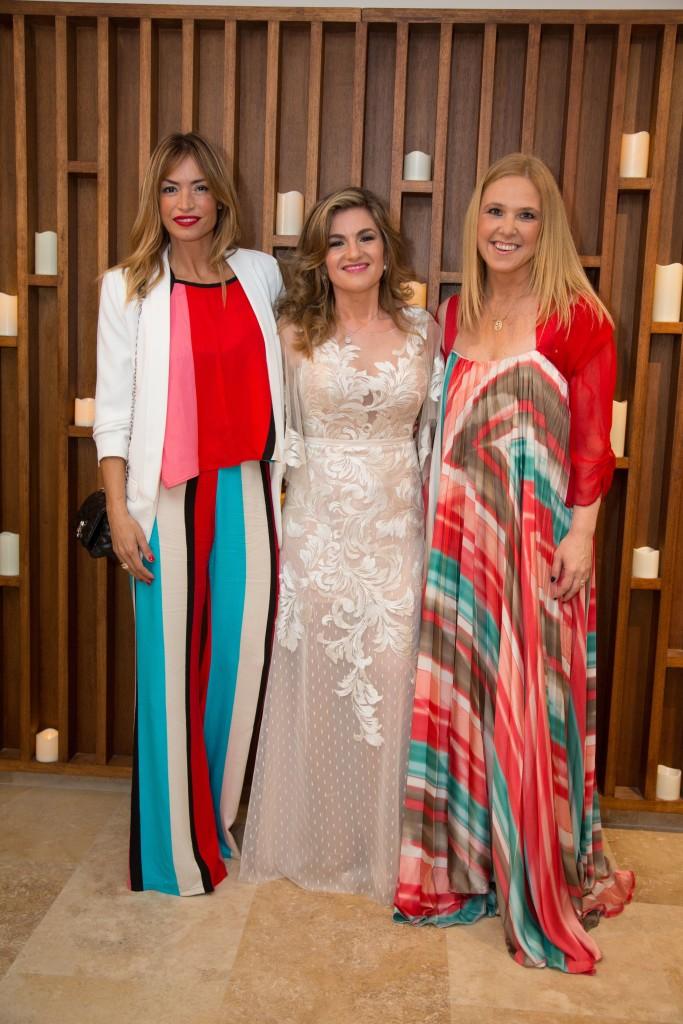 La presentadora de TV uruguya Claudia Fernandez con Patricia Fernandes y Silvina Luna de Alive Health Spa Resort