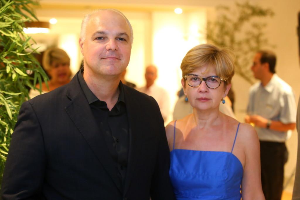 Márcio Nogueira, presidente da Chemin Incorporadora, e sua mulher Elisa Nogueira